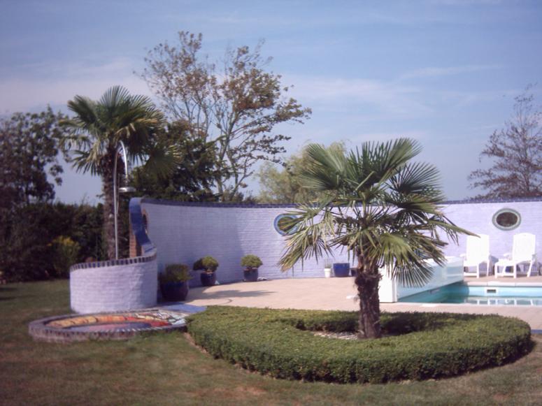 Gardening angels - Muur zwembad ...